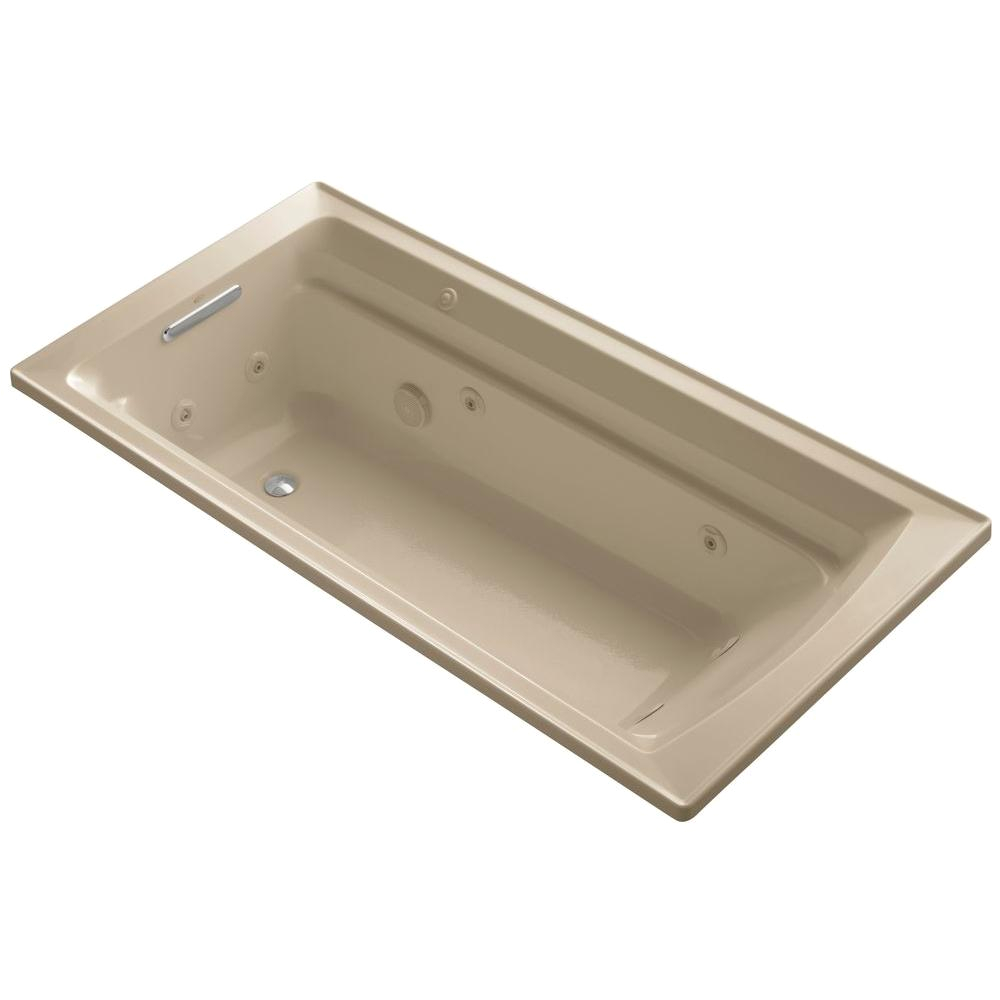 6 Ft Whirlpool Bathtub Kohler Archer 6 Ft Acrylic Rectangular Drop In Whirlpool