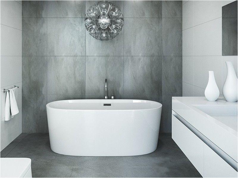 "60 Stand Alone Bathtubs Mirolin Illusa Freestanding Tub 60"""