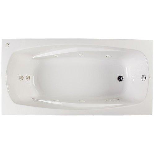 proflo pfwplusa6032 60 x 32 drop in 8 jet whirlpool bath tub biscuit