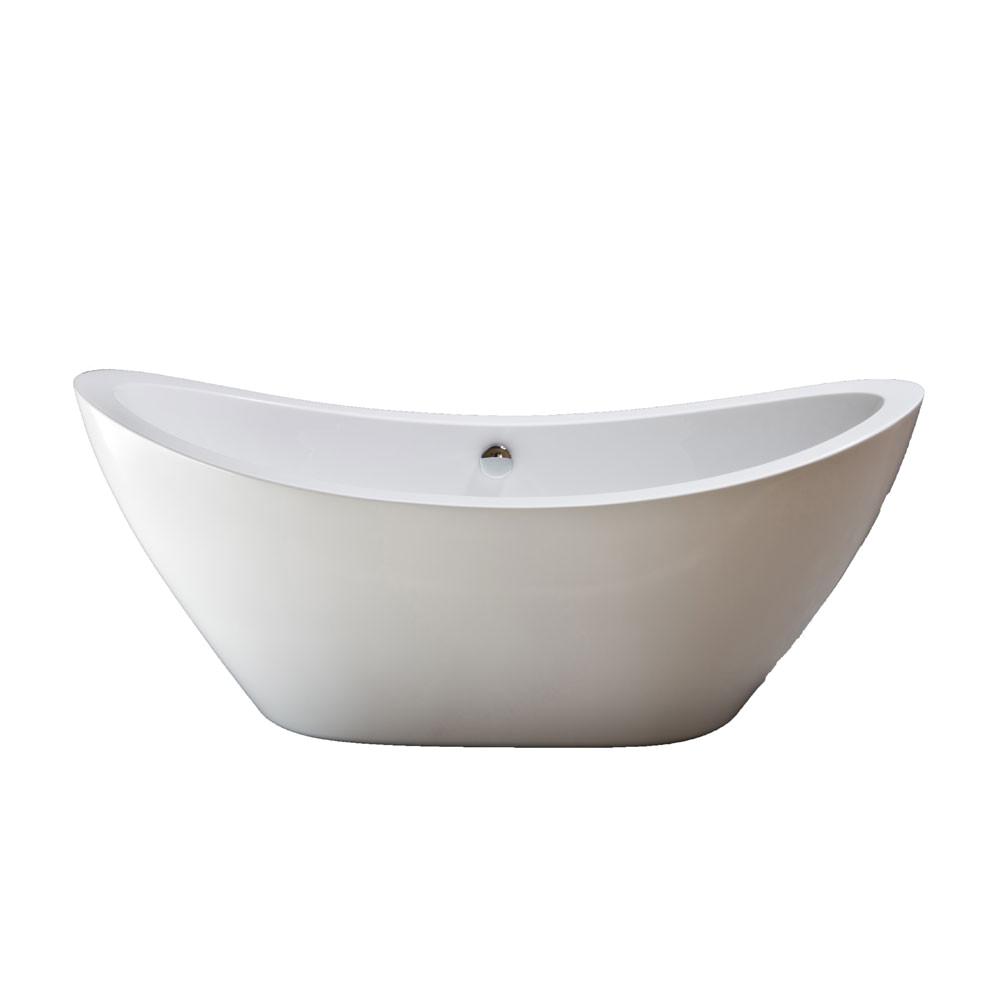 strom plumbing seneca 65 inch acrylic tub with drain no faucet drillings p1036c s