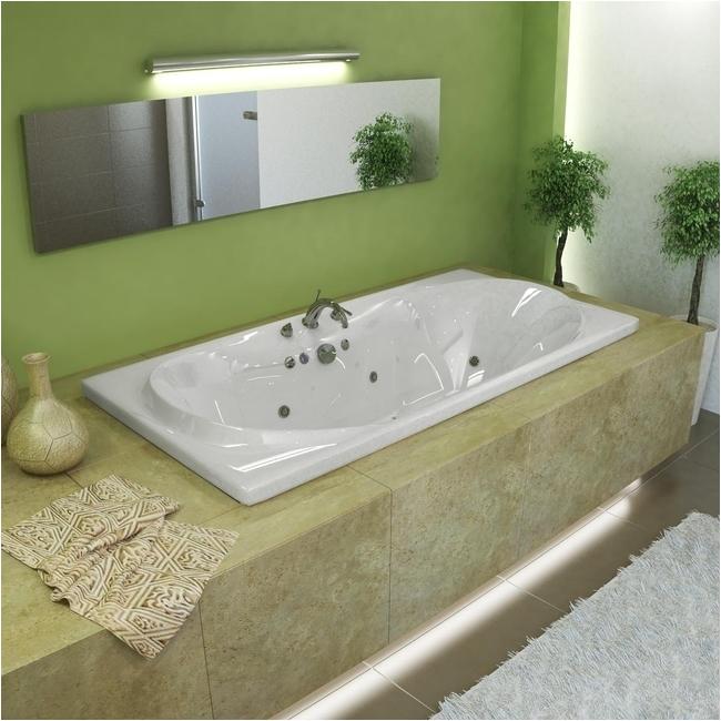 72 Jetted Bathtub Whisper 72 X 36 White Whirlpool Tub Overstock