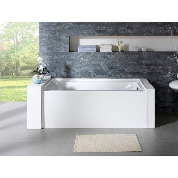 72×32 Bathtub Delano 59 Inch X 32 Inch White Rectangle Alcove soaking