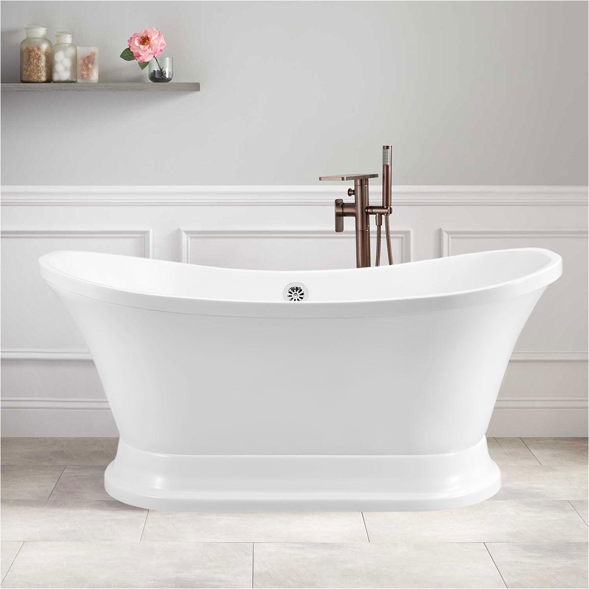 Acrylic Bathtubs Canada 60 In Freestanding Bathtub Acrylic Pure White Dk Pw