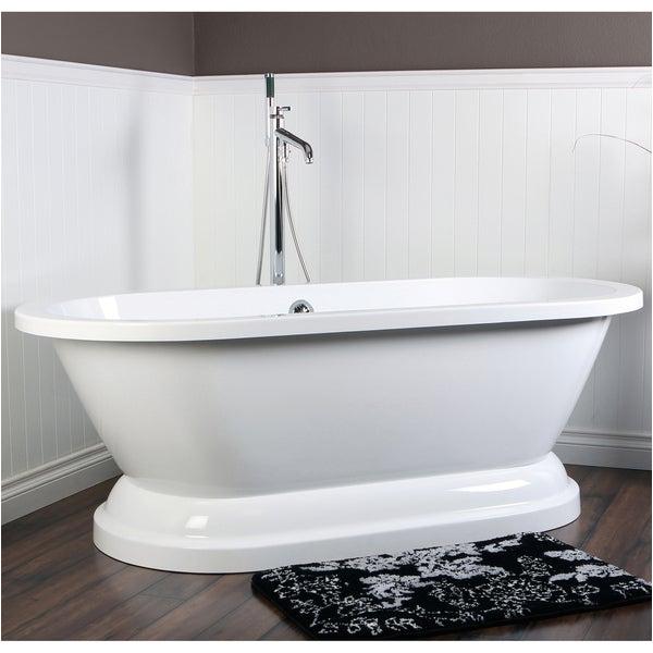 Acrylic Bathtubs On Sale Shop Contemporary Double Ended 67 Inch Acrylic Pedestal