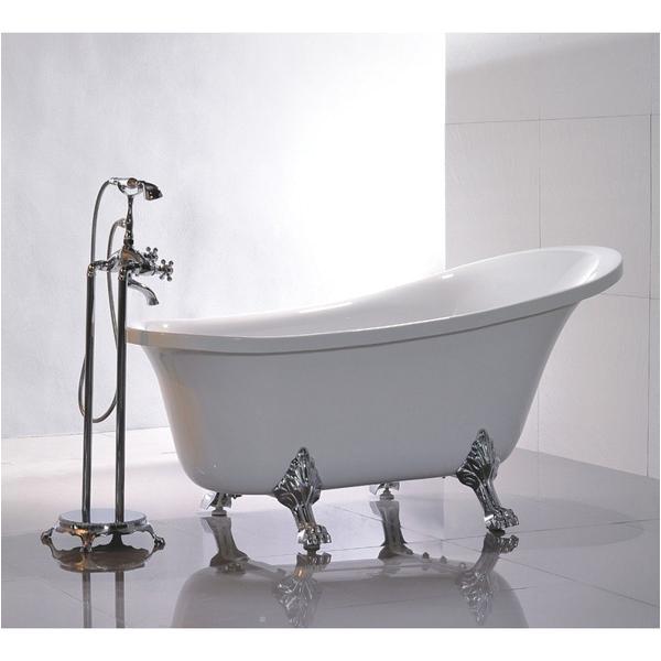 "Acrylic Clawfoot Bathtubs Legion Furniture 69"" White Acrylic Clawfoot Freestanding"