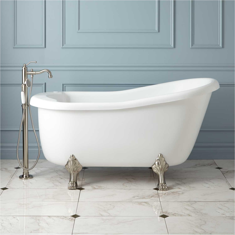 ultra victorian acrylic slipper clawfoot tub with imperial feet