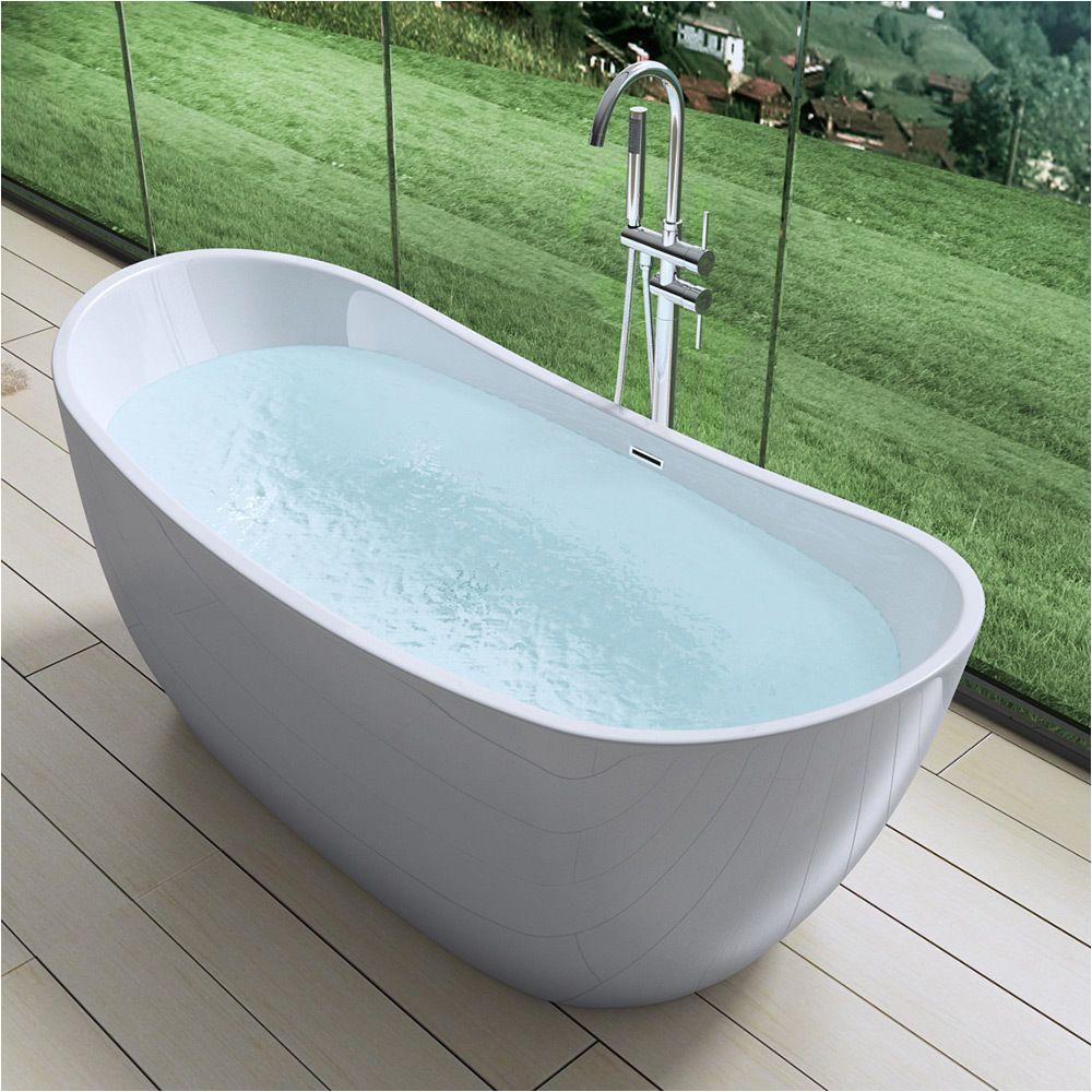 aquasoak free standing luxury bath tub deep fill dual layer acrylic new design 30 p