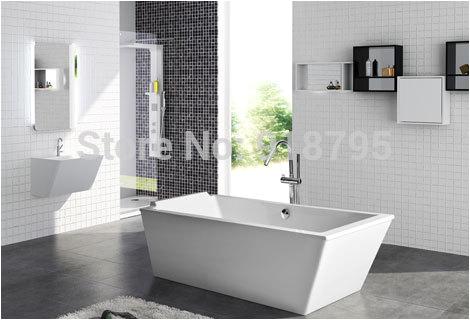 Acrylic soaker Bathtubs 1900x800x640mm Cupc Approval Acrylic with Fiberglass Resin