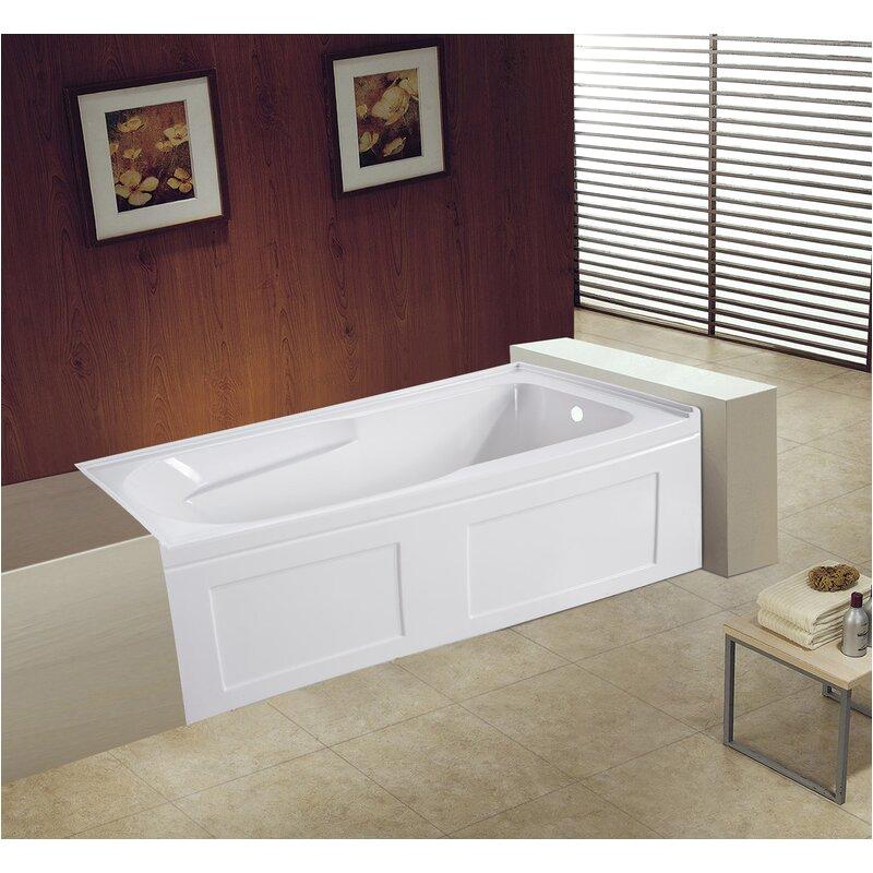 kingston brass aqua eden contemporary acrylic 60 x 32 alcovetile in soaking bathtub kbbb4547