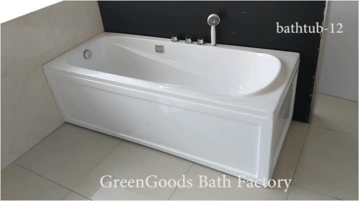 2 Wall Alcove Corner Bathtub with