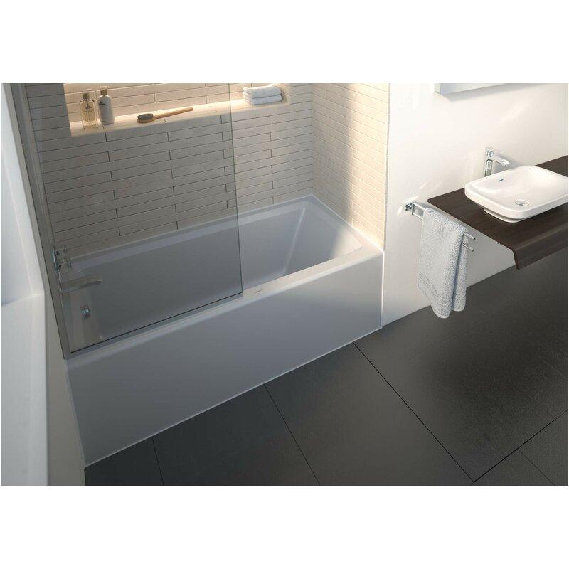 "Alcove Bathtub 60 X 28 Duravit Architec 60"" X 30"" Alcove soaking Bathtub with 19"