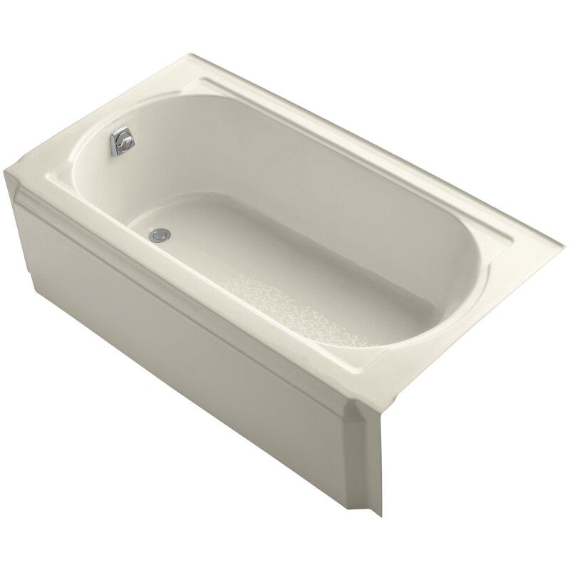 k 721 0 kohler memoirs 60 x 32 alcove soaking bathtub koh