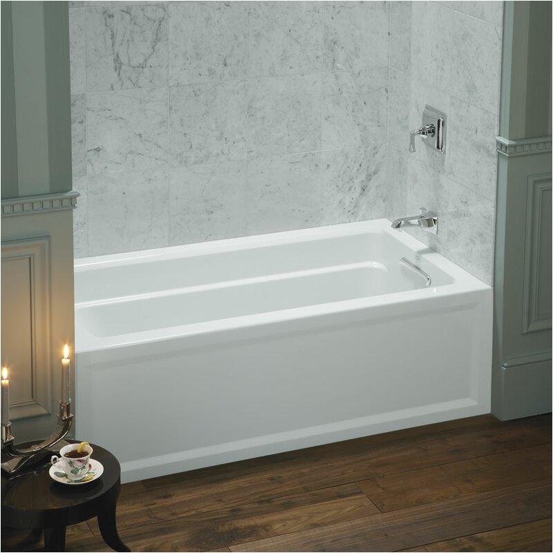 "Alcove Bathtub 60 X 32 Kohler Archer 60"" X 32"" Alcove soaking Bathtub & Reviews"