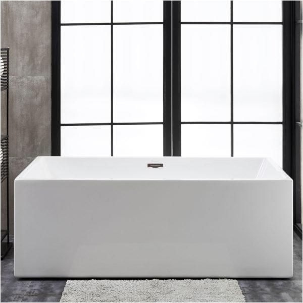 florence 60 x 34 alcove acrylic soaking bathtub with right drain