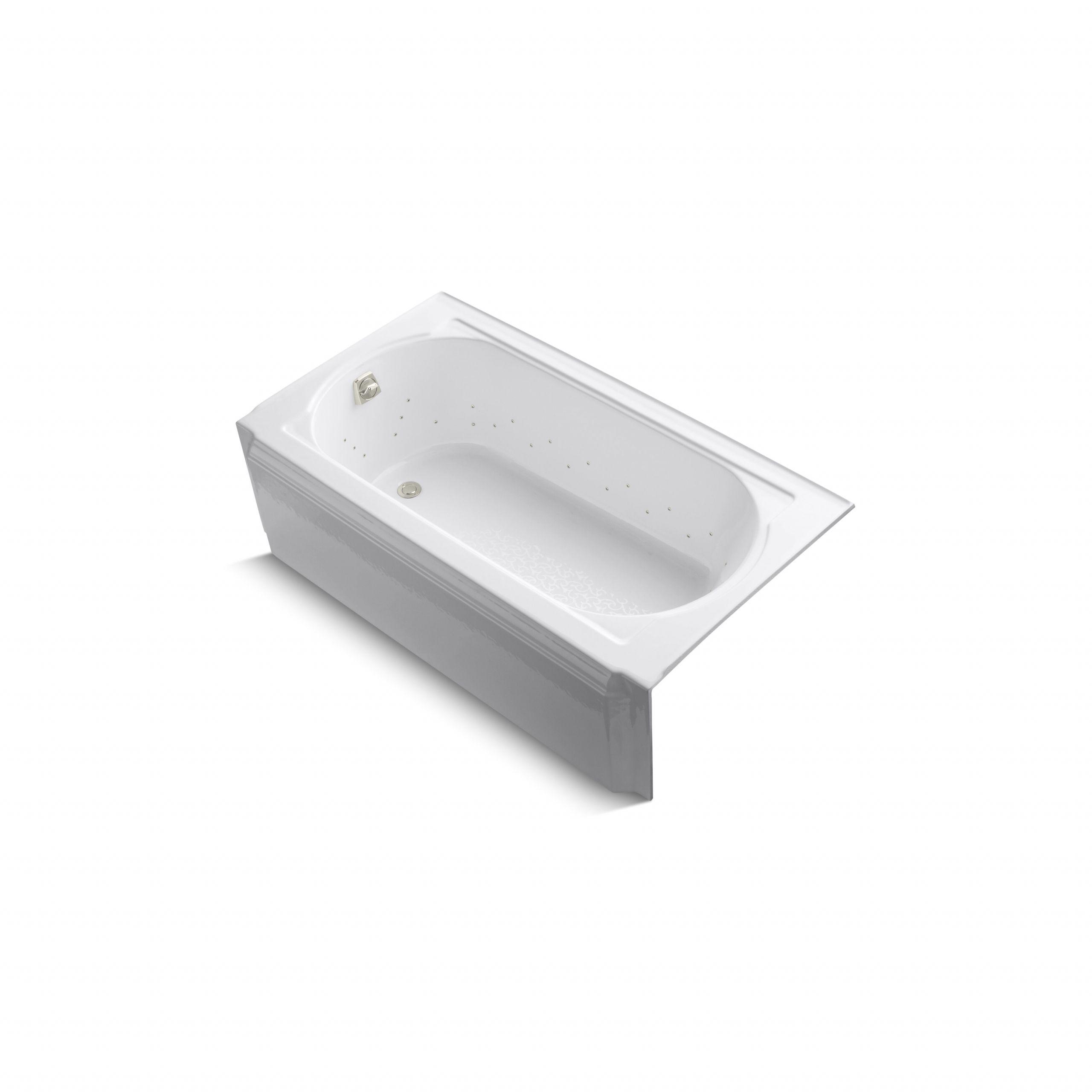 Kohler Memoirs 60 X 34 Alcove Bubblemassage Air Bath with Left Hand Drain 723 G KOH