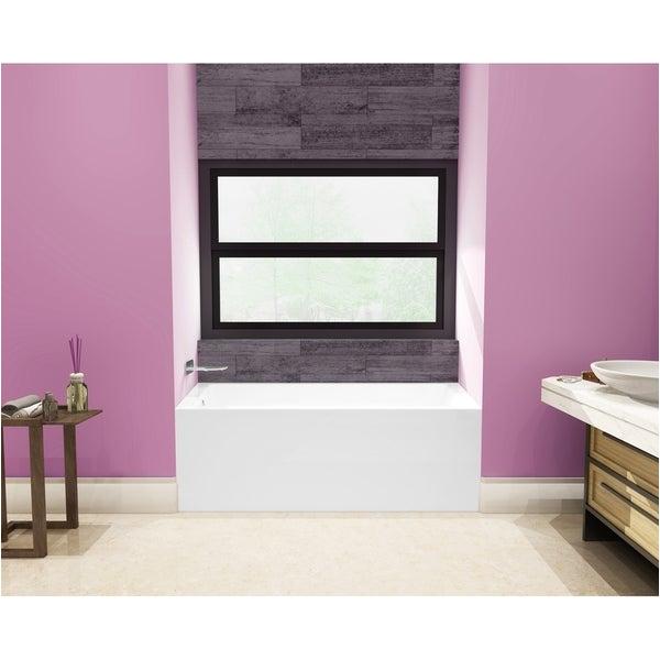 Alcove Bathtub Deep Shop 54 X 30 Inches Acrylic Deep soak Alcove Bathtub