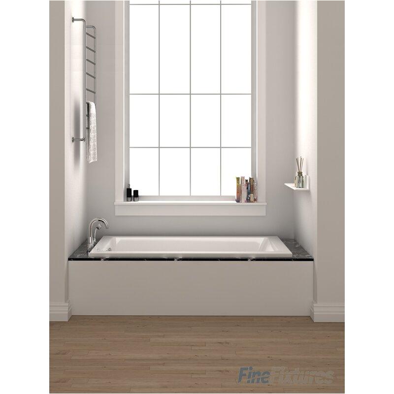 Fine Fixtures Drop In or Alcove Bathtub 32 x 48 Soaking Bathtub BT106 BT FINF1003