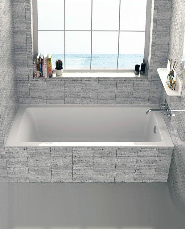 "Alcove Bathtub Modern Drop In or Alcove 32"" X 60"" soaking Bathtub & Reviews"