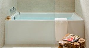 alcove skirted tub