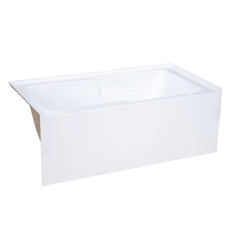 voltaire 54 x 30 acrylic white alcove integral right hand drain apron bathtub