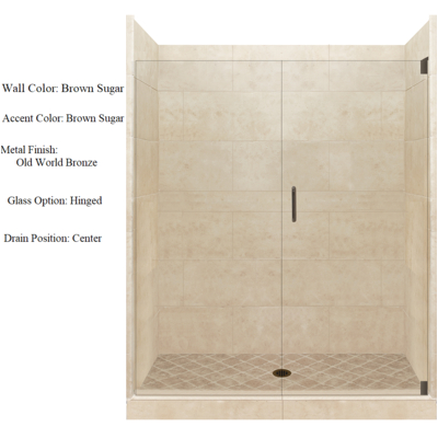 4x4 alcove shower kit style color options