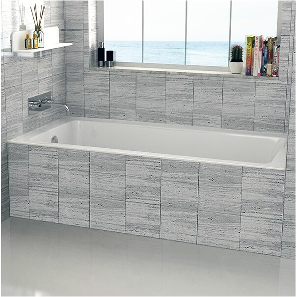 Fine Fixtures Drop In or Alcove 32 x 60 Soaking Bathtub FINF1004