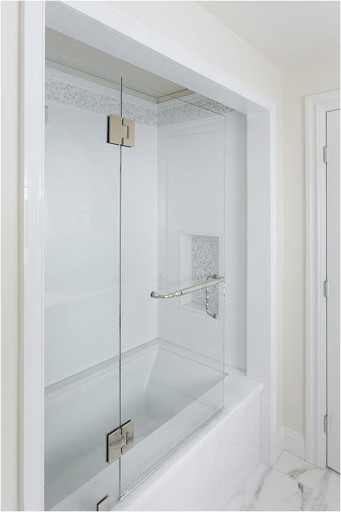 Alcove Bathtub Surround Marble Tub Alcove Transitional Bathroom