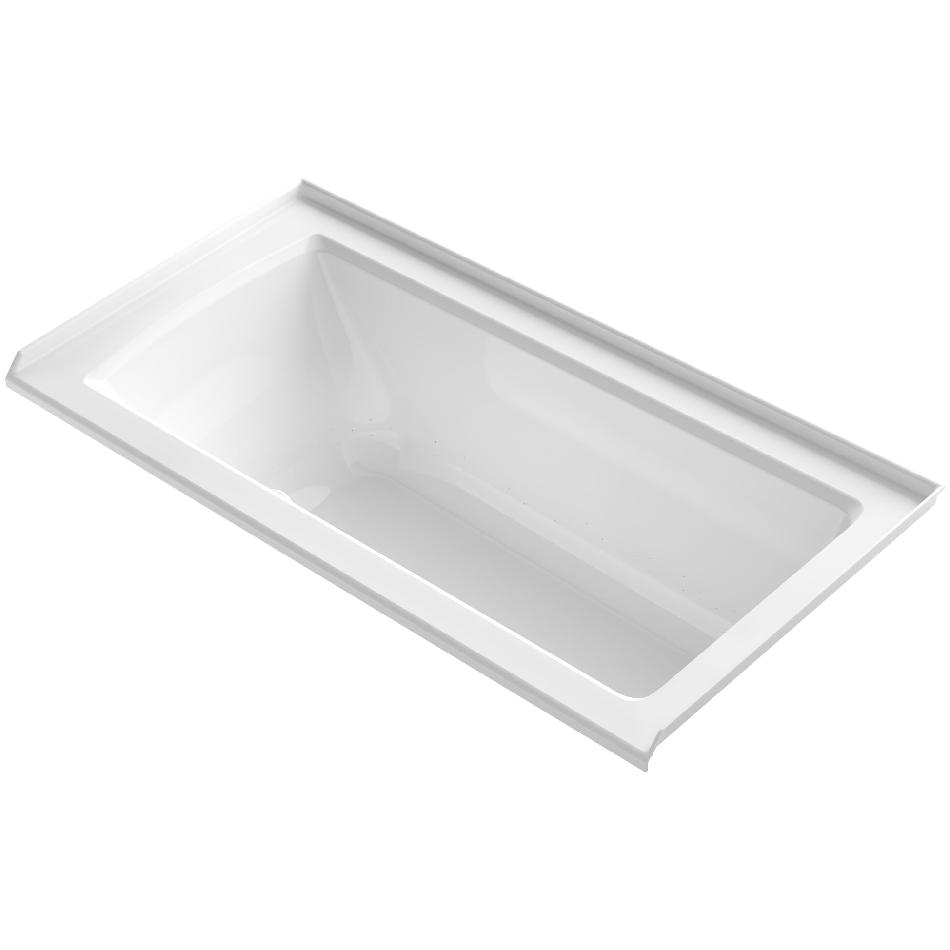 Archer 60 x 30 Alcove BubbleMassage Air Bathtub with Tile Flange and Right Hand Drain K 1947 GRF KOH