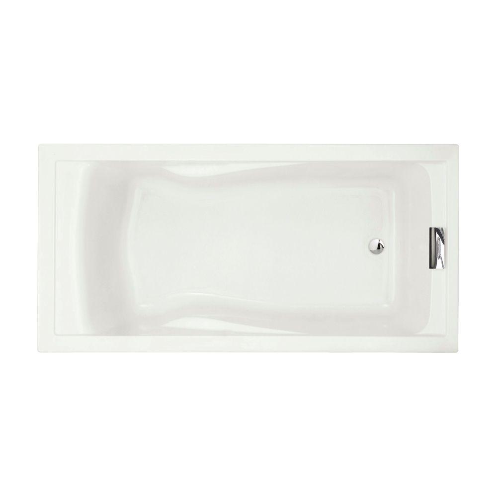 p evolution 6 feet acrylic bathtub in white