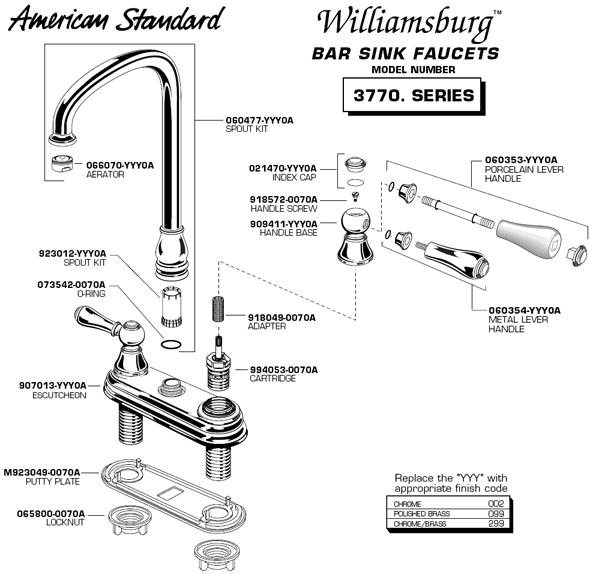 bathroom faucet parts