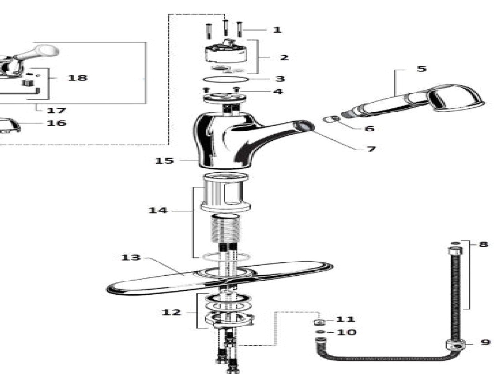 American Standard Bathtub Faucets Parts American Standard Kitchen Faucet Parts Diagram