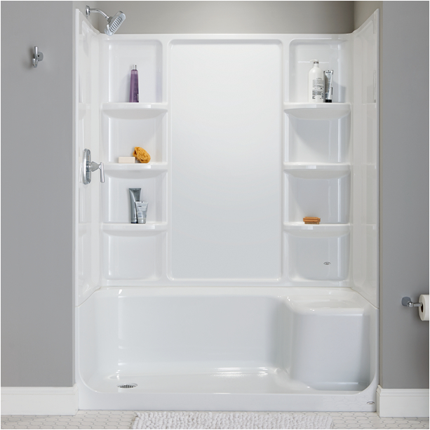 elevate seated shower base left hand outlet