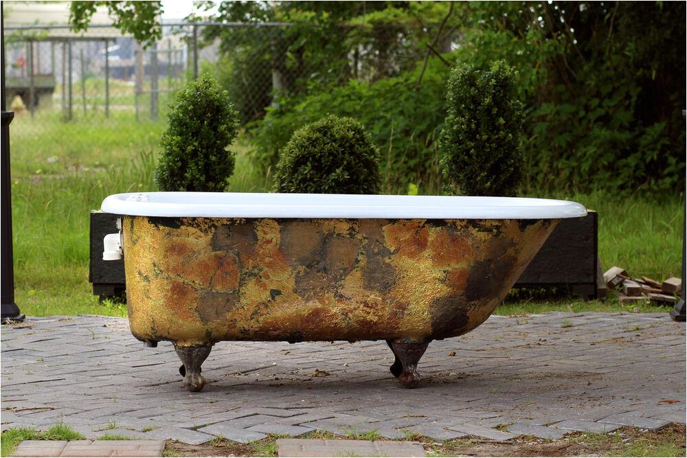 Antique Claw Foot Bathtub Antique 1911 Refinished Clawfoot Bathtub Brass Bronze Cast