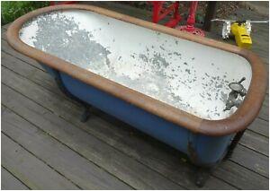 Antique Tin Bathtubs for Sale Rare Vintage Antique Galvanized Metal Clawfoot Bathtub W