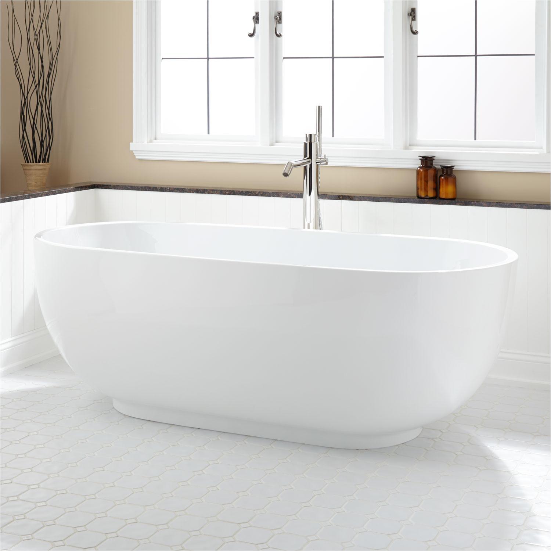 71 hazel freestanding acrylic soaking tub