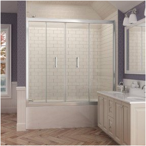 folding bathtub doors