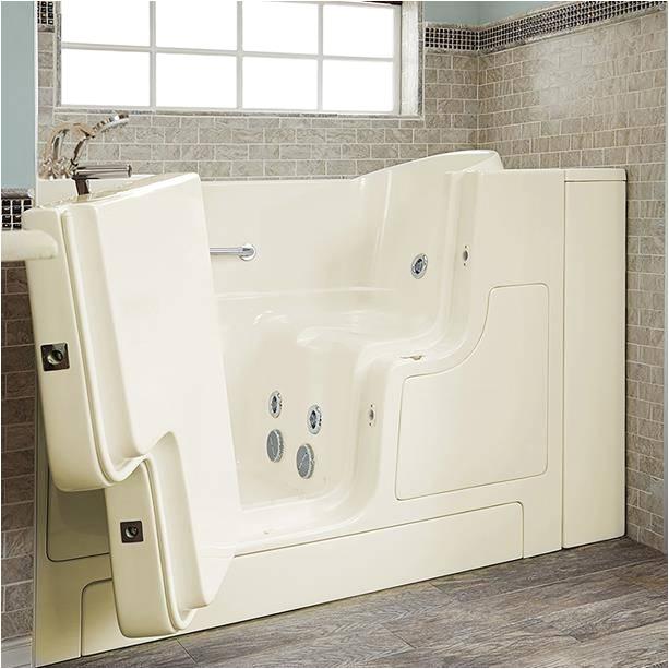 gelcoat premium series 30x52 inch outward opening door walk in bathtub with whirlpool massage