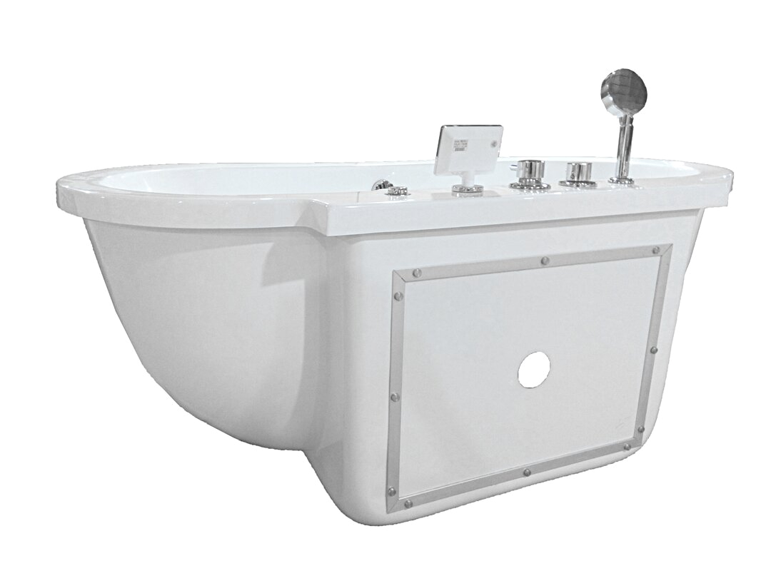 ariel bath 71 x 37 whirlpool bathtub zzb1035