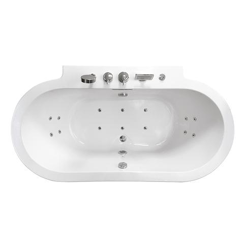Ariel Platinum Whirlpool Bathtub Ariel Freestanding Whirlpool Bathtub Platinum Am128jdclz