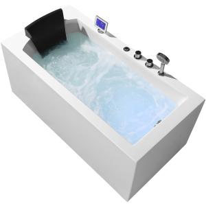 Ariel Platinum Whirlpool Bathtub Ariel Platinum 59 In Acrylic Right Drain Rectangular