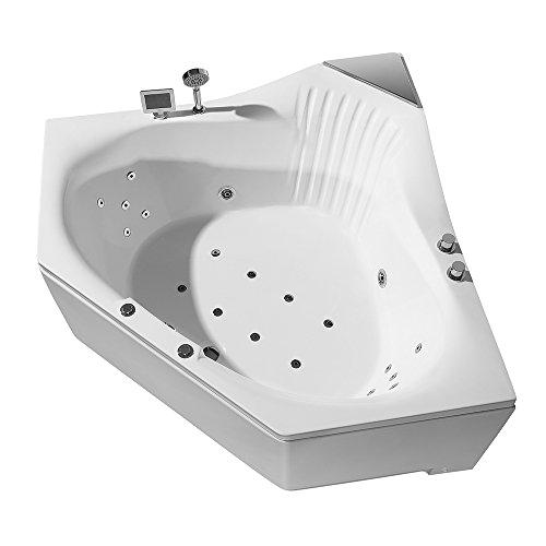 ariel platinum pw cw1 whirlpool bathtub 59 x 59 x 31 inches corner tub