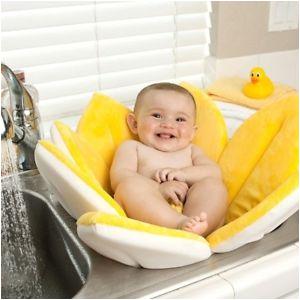 Baby Bath Tub for Bathroom Sink Newborn Baby Bathtub Cute Foldable Sunflower Mat soft Seat