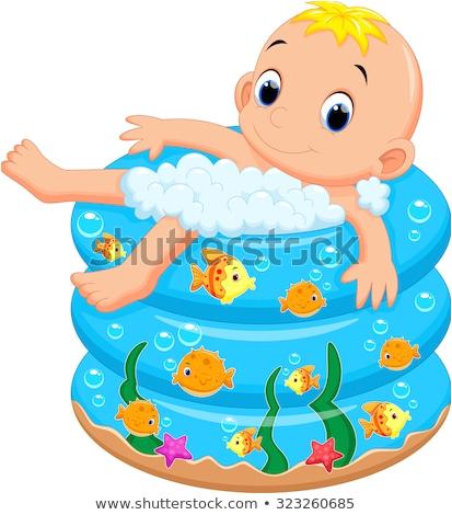 cartoon bath tub