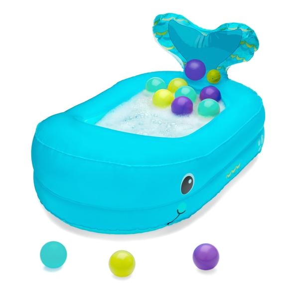 Baby Bath Tub Whale Whale Bubble Bath Inflatable Bath Tub™ Blue – Infantino