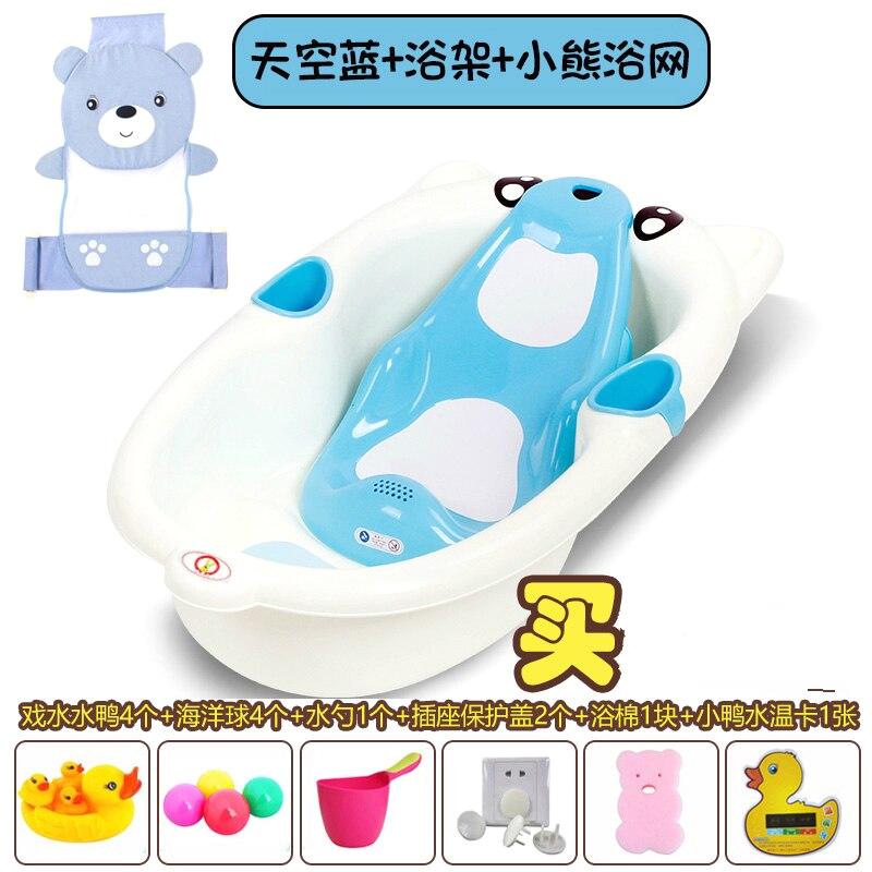 Baby Bath Tub with Pail Cartoon Baby Bathtub Children S Bath Bucket Newborn Bath