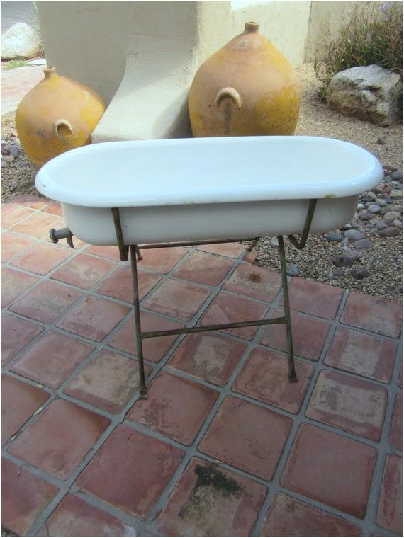 authentic vintage antique baby bathtub