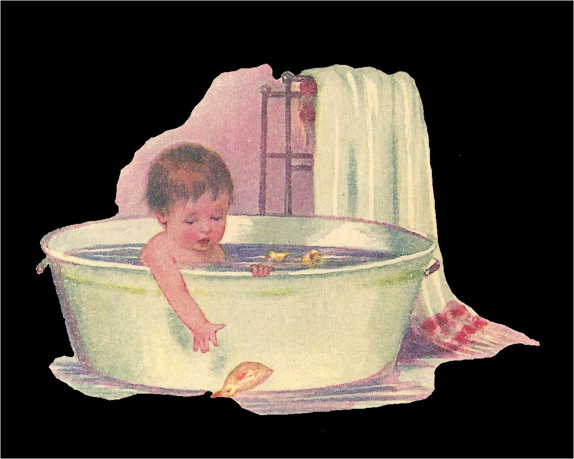 Baby Bathtub 3 In 1 Antique Free Baby Clip Art Baby Taking Bath In