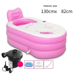 Baby Bathtub and Spa Inflatable Bathtub Pedicure Foot Shampooer Piscina Sauna