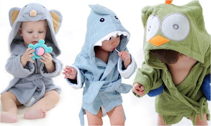 groupon australia pty ltd animal themed baby bath robe with hood