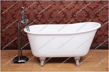 Cast iron slipper tub with clawfoot